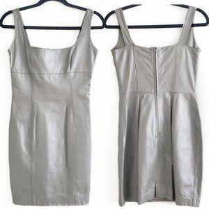 Danier genuine leather dress silver size XS